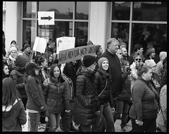 Weak Men Fear Nasty Women (thereisnocat) Tags: pentax pentax67 165mm protest womensmarch womensmarchap asburypark monmouthcounty newjersey nj fp4