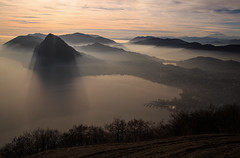 Mystic light... (Alex Switzerland) Tags: lugano luganese switzerland ticino ceresio lake landscape outdorr fog mist foschia paesaggio canon eos 6d