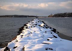 1-6-17 (Steve Bosselman) Tags: jetty breakwater winter snow harbor capecod seascape