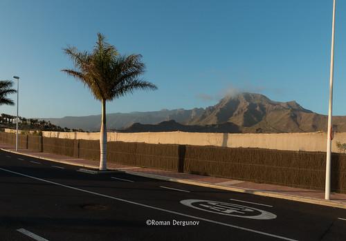 Don't hurry, enjoy landscape. Costa Adeje, Tenerife.