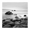Waiting Patiently (richieJ 11) Tags: porthnanven cornwall rocks coast sea brisons islands granite boulders mono squarecrop blackandwhite longexposure