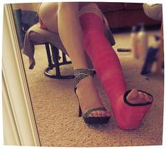 358 (katyacaster) Tags: broken leg cast woman feet