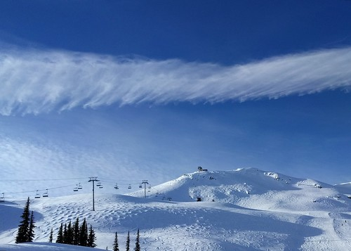 Whistler clouds on a bluebird powder day