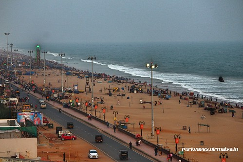 Puri Beach Road - Evening Time