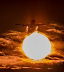 hot (mrsyclone) Tags: sun sunset sunrese b737 aviation aricraft boeing sky lax takeoff