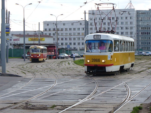 Moscow tram Tatra T3SU 3966
