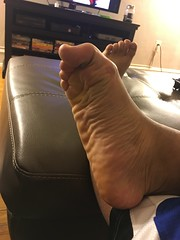 IMG_9827 (_bagent1) Tags: myfeet boyfeet chubbyfeet barefeet bearfeet thickfeet chubbytoes chubby chubbysoles soles slides sandals tops toes