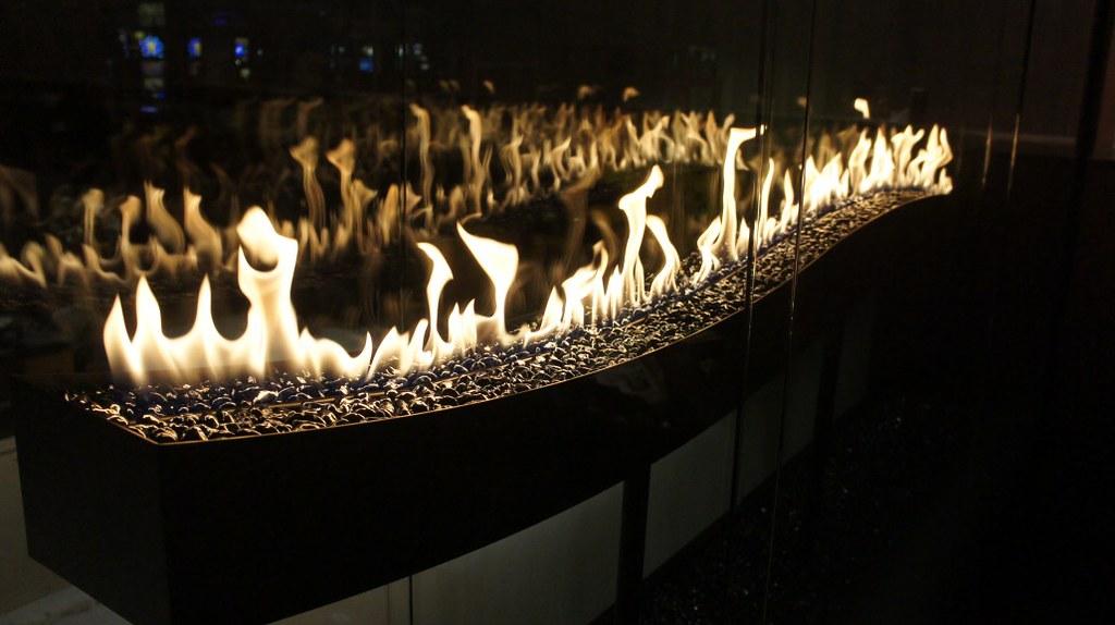 Stellar Fireplace Custom Wave Fireplace