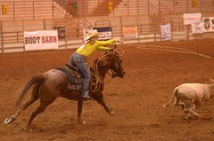 A Swing and a Prayer (Get The Flick) Tags: horse rodeo cowgirl calf roper perryga tiedownroping georgianationalfairgroundsagricenter georgiahighschoolrodeoassociation