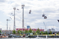 Emirates Air Line (P Sterling Images) Tags: park london tourism car photoshop lens sony air centre sigma sunny cable line fisheye emirates cc docklands olympic orbit f28 a77 aquatics 10mm