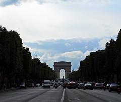 Avenue des Champs-lyses (Morgane D. ()) Tags: paris france arc triomphe triumphalarch charlesdegaulle  champslyses