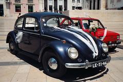 Retro Wedding Transport (rgrant_97) Tags: santacruz cars portugal volkswagen fuji fiat wheels beetle olympus retro olympustrip35 coimbra flim 126 käfer carocha fiat126