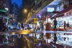Chun Yeung Street, Hong Kong (mikemikecat) Tags: street people reflection hongkong mirror cityscape nightscape sony snapshot tram nightview 城市 香港 電車 tramway 建築 northpoint 路 建築物 北角 車輛 chunyeungstreet 春秧街 sel35f28z mikemikecat
