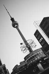 Two become one (Part II) (romyko1982) Tags: berlin alex nikon fenster alexanderplatz fernsehturm sbahn schwarz tvtower huser weltzeituhr weis clockofworld