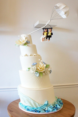 Parasailing Wedding Cake