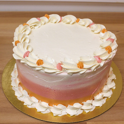 Smooth Pink & Orange Gourmet Cake