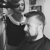 Markus I Salon Artifex #3 (Eera Photography) Tags: hairdressingsalon hairdressers hairstylist barbershop portrait beard hairstyle 50s rockabilly retro vontage 50mm blackandwhite