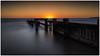 Sunset over the Groyne (RissaJT_23) Tags: beach sunset groyne mentonegroyne longexposure sun water relaxation peach pastel structure outdoors mentonebeach canon canon6d canoneos6d canon1740mm
