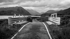 Lonely Road (Ben E Matthews) Tags: scotland holiday 2016 uk greatbritain britain mountains loch road bridge barriers arcaig arkaig