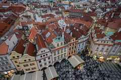 Roofs of Prague (andbog) Tags: sony alpha ilce a6000 sonya6000 emount mirrorless csc sonya sonyα sonyalpha sony⍺6000 sonyilce6000 sonyalpha6000 ⍺6000 ilce6000 architettura architecture apsc building edificio dusk crepuscolo cloudy nuvoloso overcast praga prague praha prag repubblicaceca cechia českárepublika czechrepublic boemia čechy böhmen oldtownsquare staroměstskénáměstí novéměsto windows finestre facade façade facciata manual mf manualfocus primelens manualfocusing samyang samyang12mmf20ncscs 12mmf20 12mm f20 handheld twilight square piazza lights wideangle overlook rooftops roof tetti cityscape city città houses case view vista over100fav