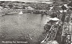 South Bay Pool (storiesfromscarborough) Tags: scarborough southbaypool seaside history swimming lido outdoorpool postcard divingboard tidalpool seawater swimmers 1940s