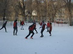 Новогодний футбол на каникулах