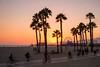Sunset ride (BrianEden) Tags: beach xpro1 palmtrees sunset pier couple fuji walking sky losangeles santamonica fujifilm la california unitedstates us
