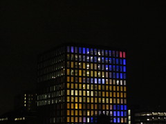 Thames Tower Reading (portemolitor) Tags: reading thamestower reading2016 yearofculture lightupreading 2016 year culture light up office block thames tower