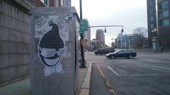 Smile (Randall 667) Tags: providence rhode island graffiti street art artist wheat paste icecream head smile happy funny downtown prov swine gdc saet dyet lead city slap sticker dna