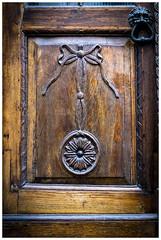 Oakwood Door (Der Reisefotograf) Tags: door doorhandle eiche oak intarsie braun brown tür