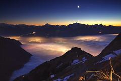 Evening Above Clouds (hapulcu) Tags: rochersdenaye alps isvicre montreux schweiz suissse suiza suiça svizzerra swiss switzerland vaud winter