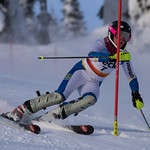 Maja Woolley (WMSC) U16 Sun Peaks SL PHOTO CREDIT: Christopher Naas