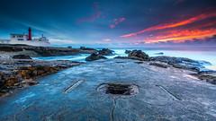 The escape (marcolemos71) Tags: seascape sea water waves atlanticocean rocks nursery lighthouse groundlevel lowpov lowtide sky clouds sunset longexposure leesw150 leend09s caboraso cascais marcolemos