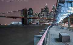 Under the FDR (20170210-DSC04329) (Michael.Lee.Pics.NYC) Tags: newyork night longexposure eastriver esplanade fdrdrive southstreet brooklynbridge lowermanhattan architecture cityscape cloudy sony a7rm2 nikon nikkor50mmaf18d