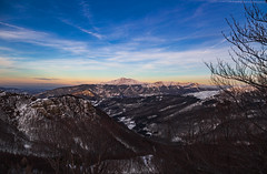 Sunset over the king (Alessandro Iaquinta) Tags: mountain landscape nature snow canon sunset 5d fullframe dslr eos montagna trekking appennino italy 2015 italia pic photography