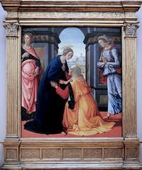 IMG_7994 Domenico Ghirlandaio.  1449-1494.  Florence.  Visitation. 1491.  Louvre. (jean louis mazieres) Tags: peintres peintures painting musée museum museo france paris louvre domenicoghirlandaio