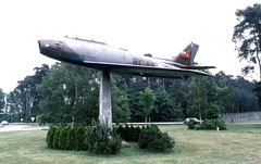 Entrance to Baden Baden Base 1980 (D70) Tags: canadair sabres the sabre was jet fighter aircraft built by under licence from north american aviation amc gremlin is an subcompact automobile canadian forces base baden–soellingen or cfb entrance baden 1980