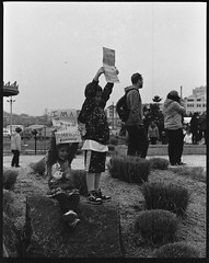 I Am a 5 Year Old Feminist (thereisnocat) Tags: pentax pentax67 165mm protest womensmarch womensmarchap asburypark monmouthcounty newjersey nj hp5