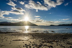 On the beach in Inverie (hutchison.fraser) Tags: a6000 sony britain uk water sea seaweed sand nevis loch mountain sun beach inverie knoydart landscape scotland 2016