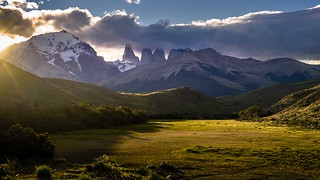 Las Torres in late afternoon's light