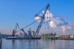 Het 'val' van de Koningshavenbrug bijnaam: 'De Hef'- Rotterdam (Frans Berkelaar) Tags: rotterdam zuidholland nederland nl olympusm1240mmf28 bonmees hebo matador3 koningshavenbrug val koningshaven dehef