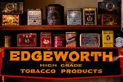 Doctor Recommended (Prestidigitizer) Tags: burnabyvillagemuseum vancouver antique vintage tobacco pentaxk3 pentaxda50135mm tins smoking cigarettes