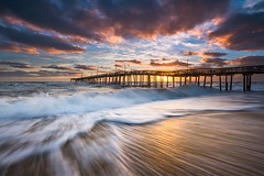 North Carolina Outer Banks Seascape Nags Head Pier OBX NC (Dave Allen Photography) Tags: outerbanks obx nc carolina northcarolina nagshead seascape ocean pier beach shore landscape sea water sunrise sand longexposure coastal eastcoast atlantic