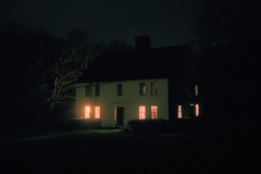 (patrickjoust) Tags: andover connecticut fujicagw690 kodakportra160 6x9 medium format c41 color negative film cable release tripod long exposure night after dark manual focus analog mechanical patrick joust patrickjoust ct new england usa us united states north america estados unidos autaut old house home country rural