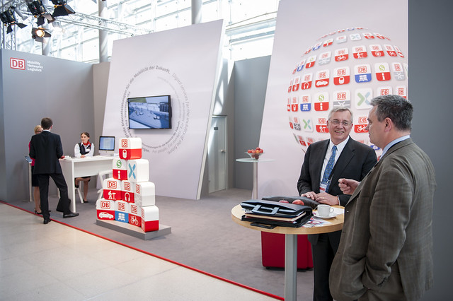 Klaus Tilmes at the DB Mobility Networks Logistics stand