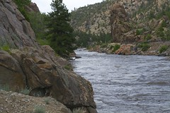 Upstream in the canyon. (littleowlarts) Tags: travel camping wild nature river colorado outdoor roadtrip canyon salida arkansasriver heclajunction