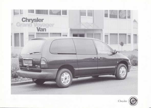 auto cars car grand voiture vehicle 1997 voyager chrysler leaflet brochure fahrzeug folleto grandvoyager prospekt carbrochure chryslervoyager 041997 opuscolo brochura chryslergrandvoyager broschyr autobrochure