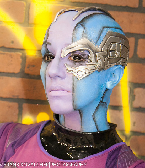 Nebula, from GUARDIANS OF THE GALAXY, portrayed by Amber Skies Cosplay