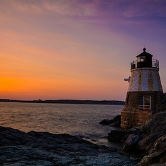 Castle Hill Light in Newport, Rhode... (thatbenhaller) Tags: longexposure sunset lighthouse seascape atlantic rhodeisland newport castlehillinn castlehilllighthouse dazzlingshots uploaded:by=flickstagram lazyshutters instagram:photo=978117472478496648571993008 instagram:venuename=castlehilllight instagram:venue=3808220