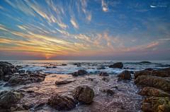 Vibrant Sunrise (Navin.Images) Tags: sea sun nature colors clouds sunrise landscape rocks skies vizag andhrapradesh visakhapatnam